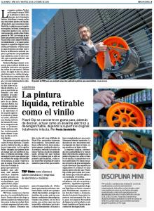 Alex Rubio Cazador Articulo en periodico EL Mundo sobre Plastidip y Technical Racing Products