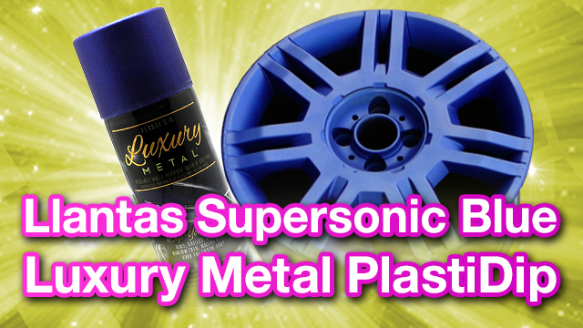 Llantas Luxury Metal Ultrasonic Blue PlastiDip