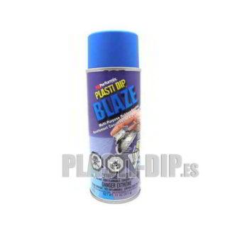 spray de vinilo líquido plastidip azul