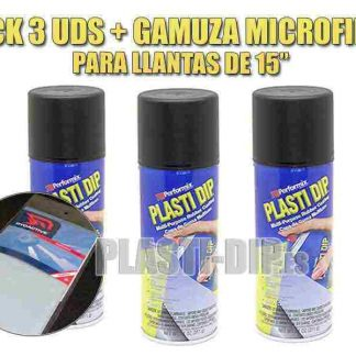 pack para pintar llantas con vinilo líquido plastidip