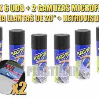 pack para pintarl llantas con vinilo líquido plastidip
