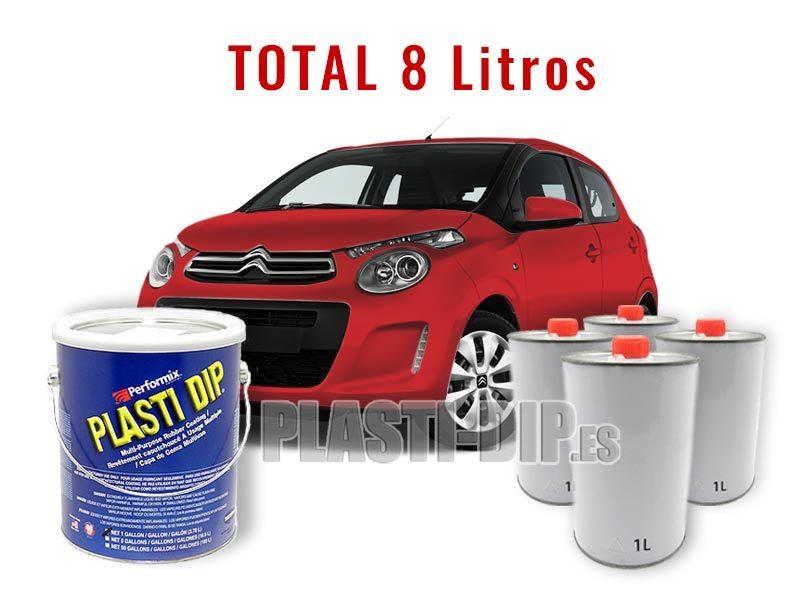 Kit Plastidip Rojo Mate Coche pequeño (Citroen C1) 8 litro