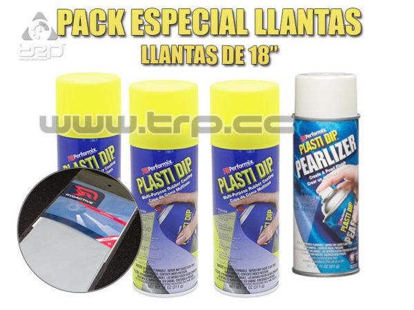 Plastidip Pack 4 Sprays Amarillo + Perlado para llantas coche