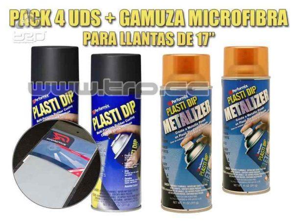 Plastidip Pack Llantas Efecto Cobre Llanta 17