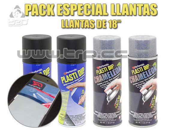 Plastidip Pack 4 Sprays Negro + Camaleon Caleidoiscopio