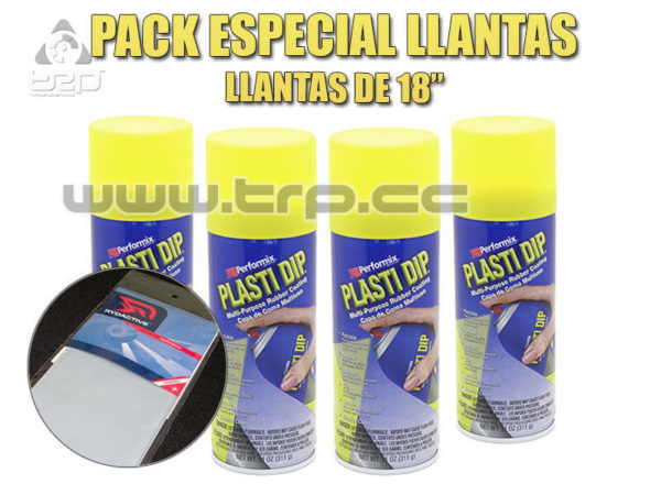 Plastidip Pack 4 Sprays Amarillo Mate para llantas coche