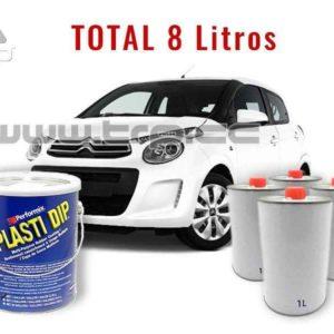 Kit Plastidip Blanc Mate Coche pequeño (Citroen C1) 8 litr