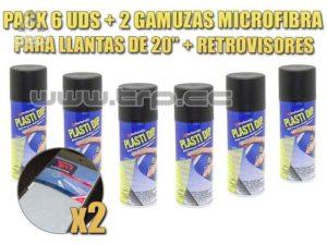 Plastidip 6 Sprays Negro Mate + llanta y retrovisor