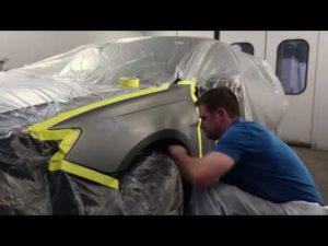 Preparación de la carrocería antes de aplicar la pintura en spray Plasti-Dip